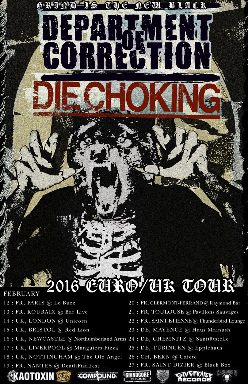 Die Choking - Department Of Correction -Europe